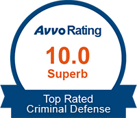 AVVO 10/10 - Top Rated Criminal Defense